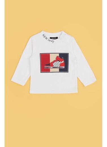 BG Baby Erkek Bebek Beyaz T-Shirt 20Fw0Bg1527 Beyaz